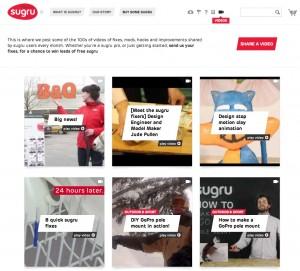 Sugru demonstrate innovative web video strategy